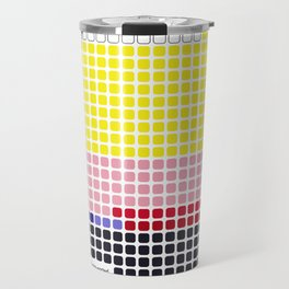 Girl with Hair Ribbon (Roy Lichtenstein) color-sorted Travel Mug
