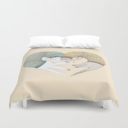 Ferret Sleep Love Duvet Cover