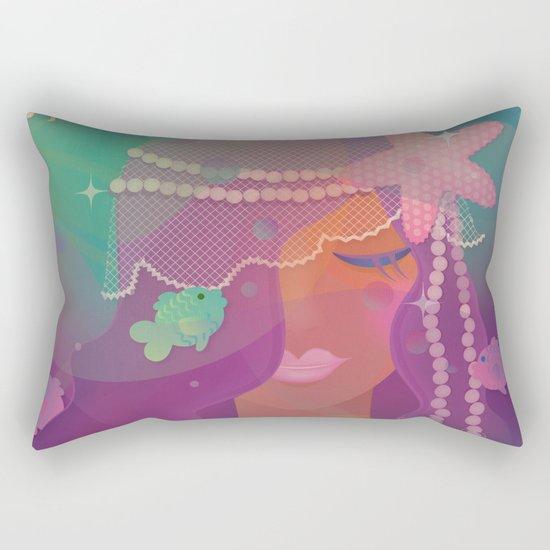 Mermaid II - Bohemian Starfish Hairpiece Rectangular Pillow