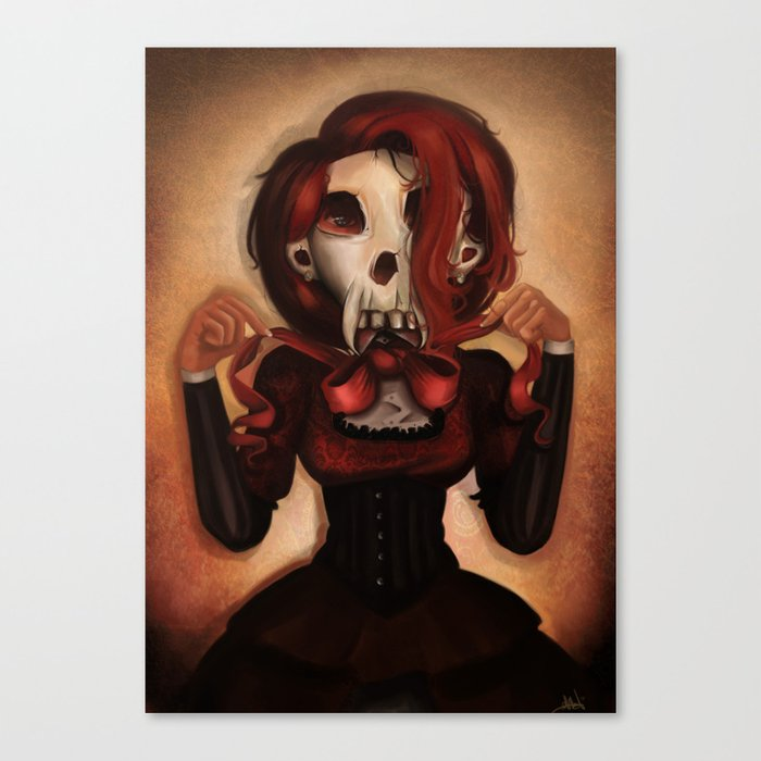 Skull Theatre Canvas Print