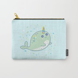 narwhal sea unicorn cute kids gift Carry-All Pouch