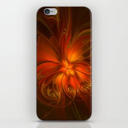 Burning, Abstract Fractal Art With Warmth iPhone Skin