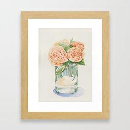 Old roses in glass Framed Art Print