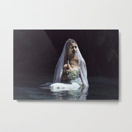 The unravelling of Ophelia Metal Print