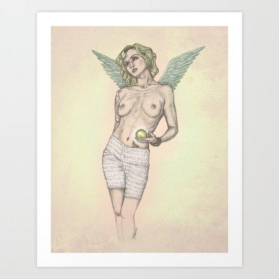Pondering Angel Art Print