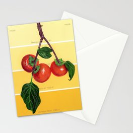 Persimmon Branch on Yellows Stationery Cards
