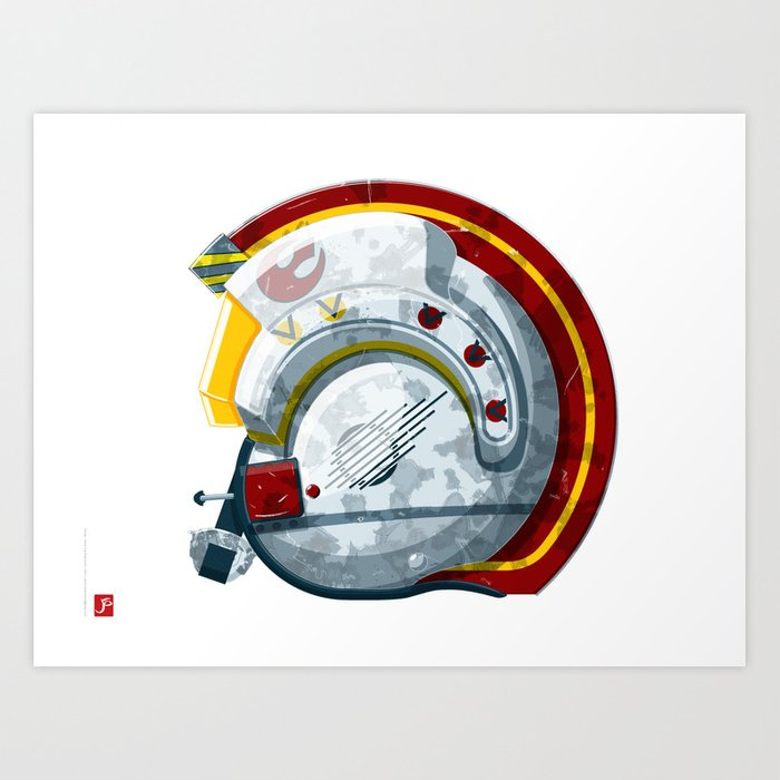 Alliance Pilot Helmet Art Print