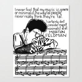 Morton Feldman with Quote Canvas Print