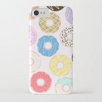 donuts iPhone & iPod Cases featuring Donuts by Alexandra Aguilar