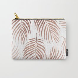 Stylish elegant rose gold foil palm tree leaves Carry-All Pouch
