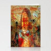 da vinci Stationery Cards featuring Leonardo da Vinci Abstract  by  Agostino Lo Coco
