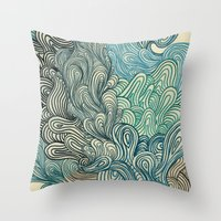 friday Throw Pillows featuring Friday Afternoon by Marcelo Romero