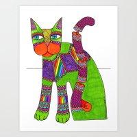 Cat Zen 12 Art Print