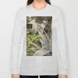 Blue agave and stucco cottage Long Sleeve T-shirt