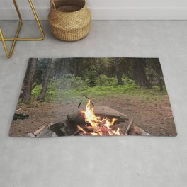 Backpacking Camp Fire Rug