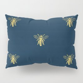 French Bee Pattern Pillow Sham