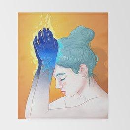 Fire Hands Throw Blanket