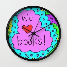 We love books! Wall Clock