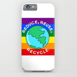 Rainbow recycling iPhone Case