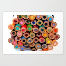 Colored Pencils Part II Art Print