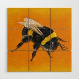 Fuzzy Bumblebee Wood Wall Art