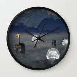 Jelly Fish Valley Wall Clock