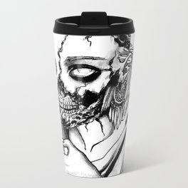 Smoking Zombie Metal Travel Mug