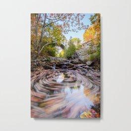 New England Autumn Leaves Acadia National Park Landscape Metal Print