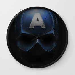 Capt America - Cowl Portrait Wall Clock