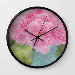 Pitcher of Peonies Wall Clock