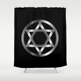 The seal of Solomon- a magical symbol or Hexagram Shower Curtain