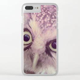 Dirty Look Owl Clear iPhone Case