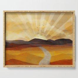 Desert in the Golden Sun Glow II Serving Tray