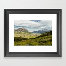 Mount Crested Butte and Town Framed Art Print