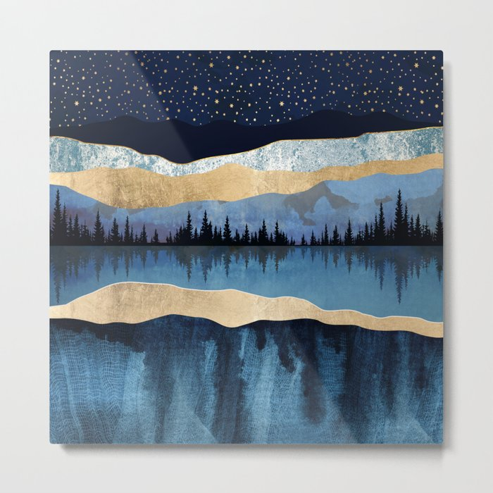 Midnight Lake Metal Print