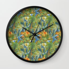 africa pattern elephant Wall Clock