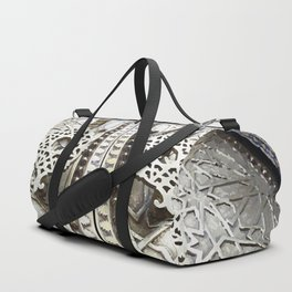 Marocco Door Mosaic Style Design Metal Duffle Bag