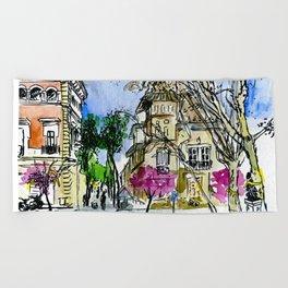 Plaça de la Virreina, Barcelona Beach Towel