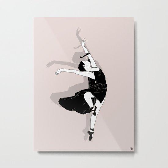 Pink Dancer Metal Print