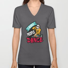 Dj Make People Dance Unisex V-Neck