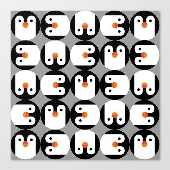 The Penguin Club Canvas Print