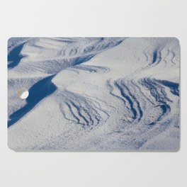 Snow drifts in winter Cutting Board