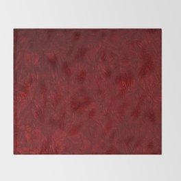 Red Crushed Velvet Throw Blanket