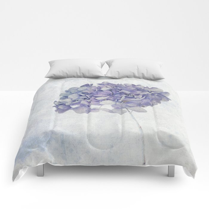 Blue Vintage Hydrangea Comforters