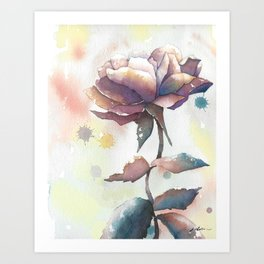 Mourning Rose Art Print