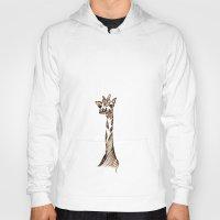 giraffe Hoodies featuring Giraffe by Ilariabp.art