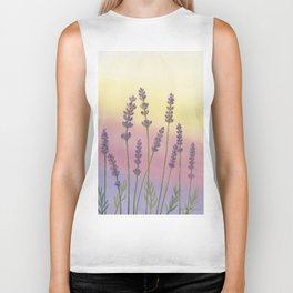 Lavender in Sunset Biker Tank