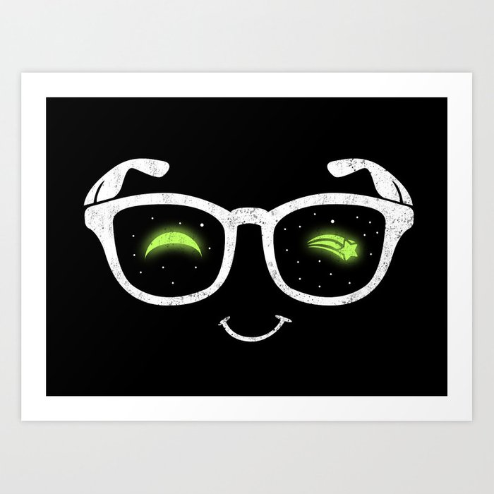 NERD NIGHT Art Print