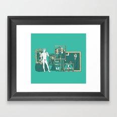 Meeting the parents Framed Art Print