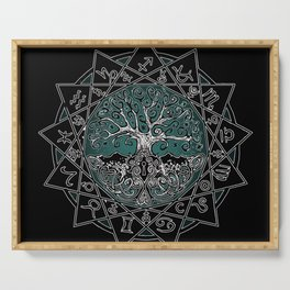 Gate & Key: Sidereal 13 Sign Astrology Serving Tray